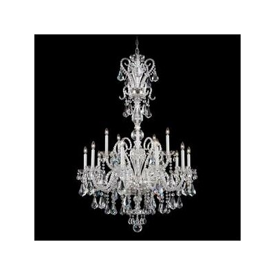 Novielle 20-Light Candle-Style Chandelier Finish: Polished Silver, Crystal Type: Swarovski Elements Clear