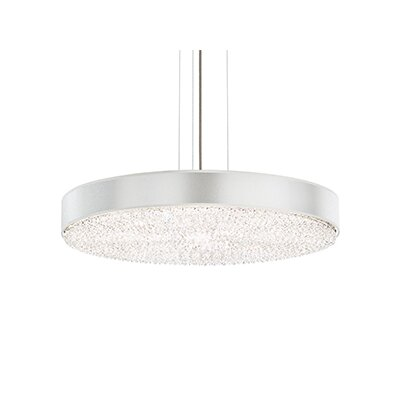Eclyptix 12-Light Drum Pendant Crystal Type: Polished Stainless Steel