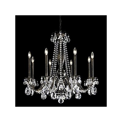 Alea 8-Light Crystal Chandelier Crystal Type: Heritage Clear, Finish: Parchment Gold