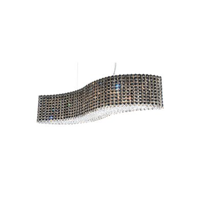 Refrax 14-Light Kitchen Island Pendant Crystal: Jaguar