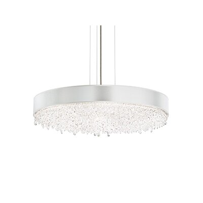 Eclyptix 12-Light Drum Pendant Crystal Type: Heritage Clear