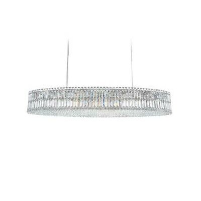 Plaza 24-Light Kitchen Island Pendant Crystal Type: Swarovski Elements Golden Shadow