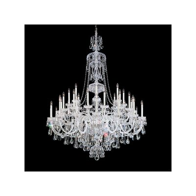 Sterling 40-Light Crystal Chandelier Crystal Type: Swarovski Clear, Finish: Silver