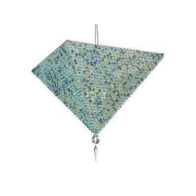 Vertex 17-Light Inverted Pendant Crystal: Travertine Swarovski