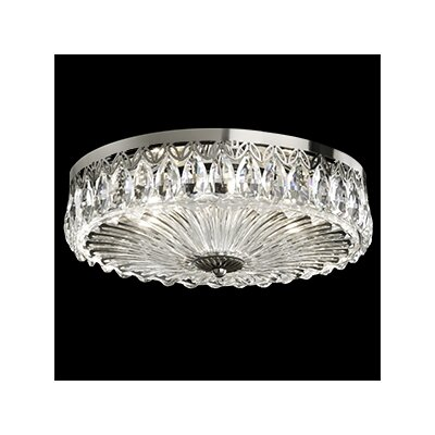Fontana Luce 3-Light Flush Mount Finish: Silver