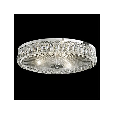 Fontana Luce 3-Light Flush Mount Finish: Antique Silver
