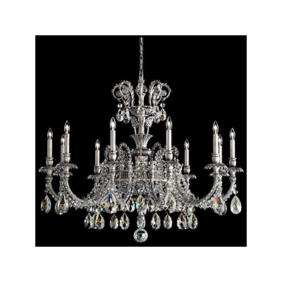 Genzano 11-Light Crystal Chandelier Crystal Type: Rock Clear, Finish: Roman Silver