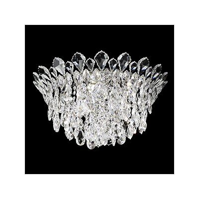 Trilliane 5-Light Flush Mount Crystal Type: Heritage Clear