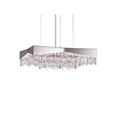 Riviera 8-Light Crystal Pendant Finish: Stainless Steel