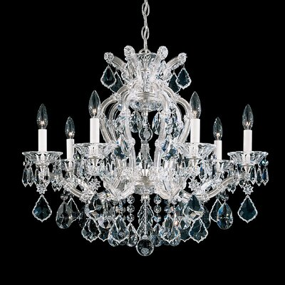 Maria Theresa 7-Light Crystal Chandelier Finish: Silver Leaf