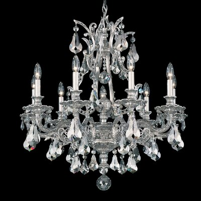 Sophia 9-Light Candle-Style Chandelier Finish: Antique Silver, Crystal Type: Spectra Clear