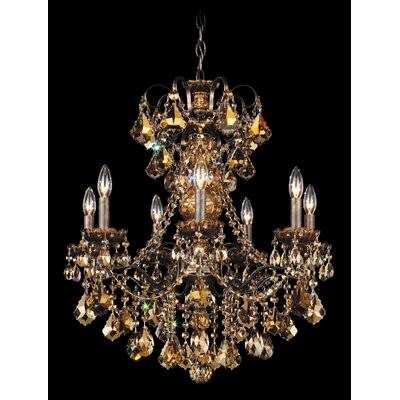 New Orleans 7-Light Candle-Style Chandelier Finish / Crystal Color: Antique Silver / Strass Golden Teak