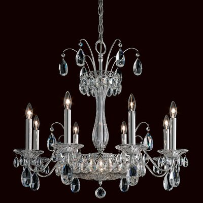 Fontana Luce 10-Light Candle-Style Chandelier Finish: Silver