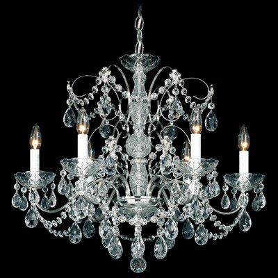 Madison 6-Light Candle-Style Chandelier Finish: Silver