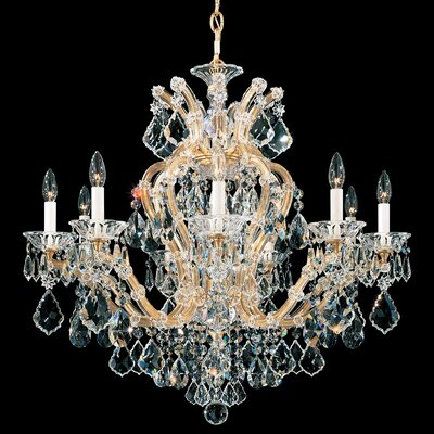 Maria Theresa 10-Light Crystal Chandelier Finish: Heirloom Gold