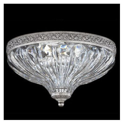 Milano Flush Mount Size / Finish: 16 / Roman Silver