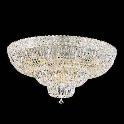 Petit 21-Light Flush Mount Finish: Aurelia, Crystal Type: Spectra Clear