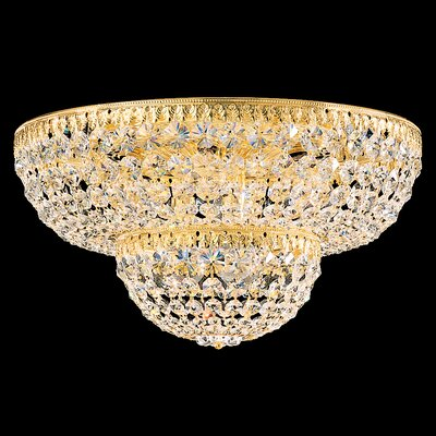 Petit 9-Light Flush Mount Crystal Type: Spectra Clear