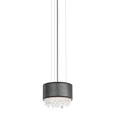 Eclyptix 2-Light Drum Pendant Size: 5 H x 7 W x 7 D, Shade Color: White, Crystal: Clear Heritage