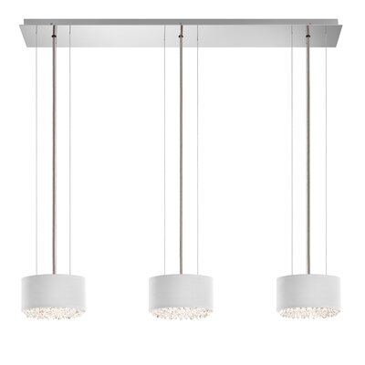 Eclyptix 6-Light Kitchen Island Pendant Shade Color: White, Crystal: Clear Heritage