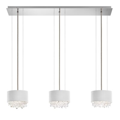 Eclyptix 6-Light Kitchen Island Pendant Crystal: Swarovski, Shade Color: White