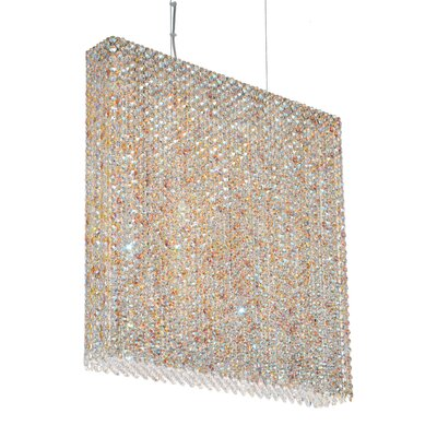 Refrax 6-Light Crystal Pendant Crystal: Golden Teak
