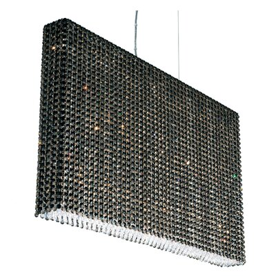 Refrax 10-Light Crystal Pendant Crystal: Travertine