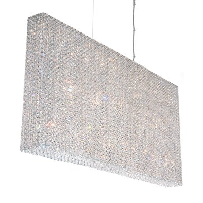 Refrax 12-Light Crystal Pendant Crystal: Travertine Swarovski