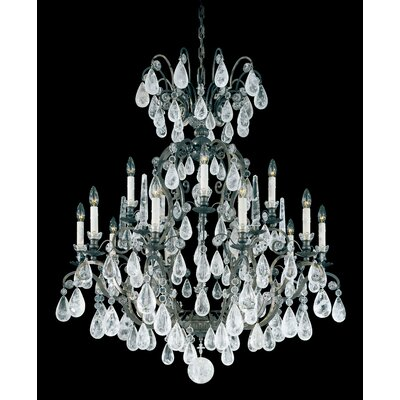 Versailles Rock 15-Light Candle-Style Chandelier