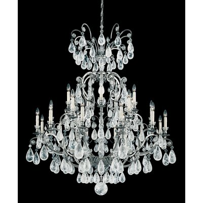 Versailles 25-Light Candle-Style Chandelier Finish: French Gold