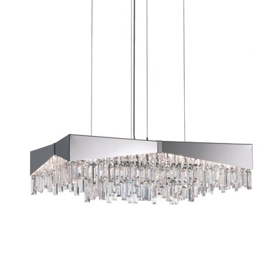Riviera Crystal Pendant Finish: Brushed, Size: 10 H x 23.5 W x 23.5 D