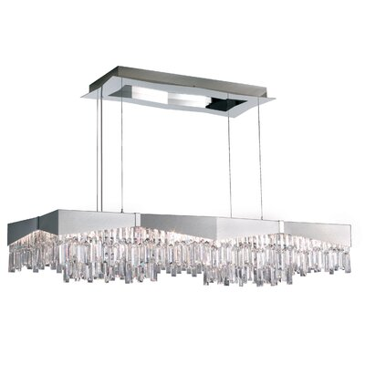 Riviera Crystal Pendant Finish: Brushed, Size: 10 H x 49.5 W x 49.5 D