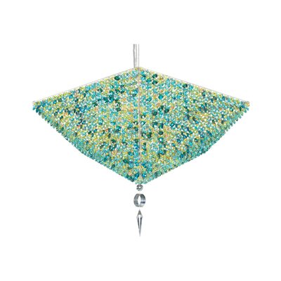 Vertex 10-Light Crystal Pendant Crystal: Azurite