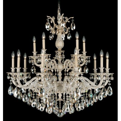 Milano 15-Light Candle-Style Chandelier Finish: Etruscan Gold