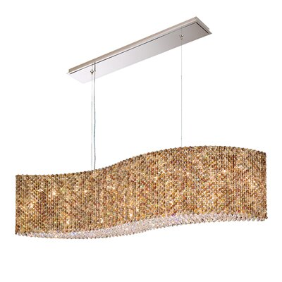 Refrax 14-Light Kitchen Island Pendant Crystal: Ocelot