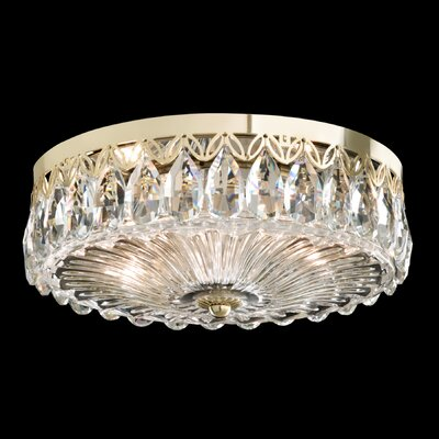 Fontana Luce 2-Light Flush Mount Finish: Silver