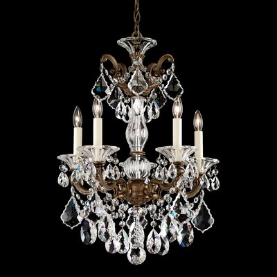La Scala 5-Light Crystal Chandelier Finish: Roman Silver