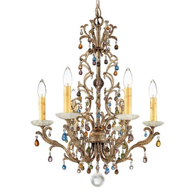 Genesis 6-Light Candle-Style Chandelier