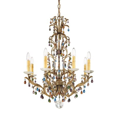 Genesis 8-Light Candle-Style Chandelier