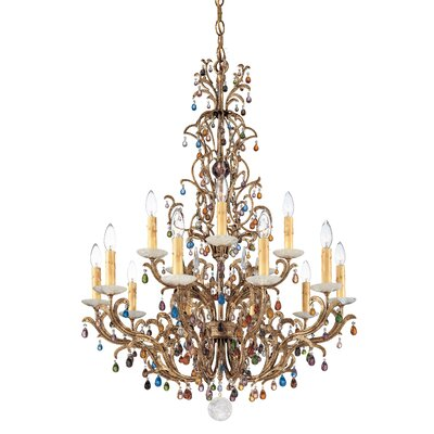 Genesis 15-Light Candle-Style Chandelier