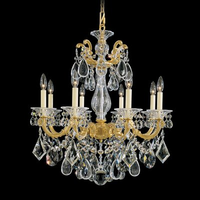 La Scala 8-Light Crystal Chandelier Finish: Roman Silver
