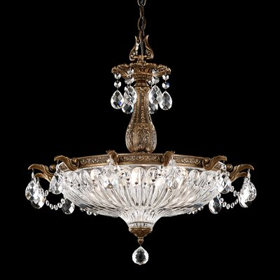 Milano 4-Light Inverted Pendant Finish: Heirloom Gold