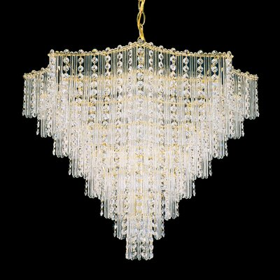 Jubilee 15-Light Crystal Chandelier Finish: Polished Silver