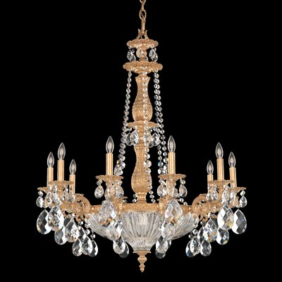 Milano 10-Light Crystal Chandelier