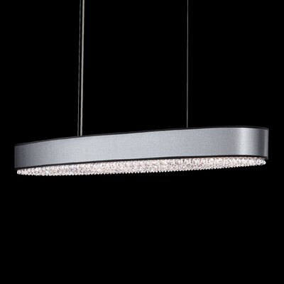 Eclyptix 10-Light Kitchen Island Pendant Shade Color: White, Crystal: Spectra Crystal Clear