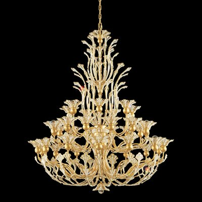 Rivendell 36-Light Candle-Style Chandelier Crystal: Swarovski Clear Crystal