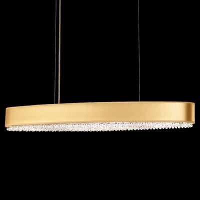 Eclyptix 10-Light Kitchen Island Pendant Shade Color: Gold, Crystal: Spectra Crystal Clear