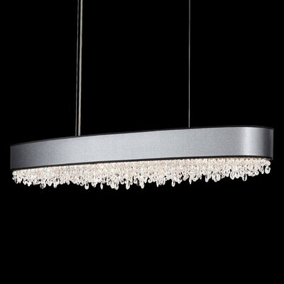 Eclyptix 12-Light Kitchen Island Pendant Shade Color: Black, Crystal: Heritage Clear Crystal