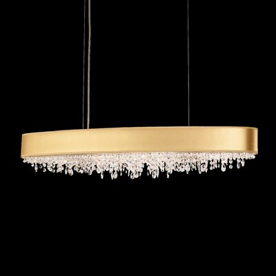Eclyptix 10-Light Kitchen Island Pendant Shade Color: Gold, Crystal: Heritage Clear Crystal