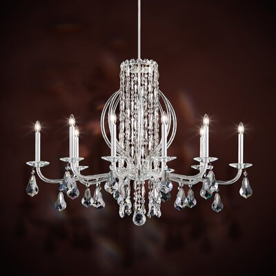 Sarella 10-Light Candle-Style Chandelier Finish: Antique Silver, Crystal: Swarovski Clear Crystal